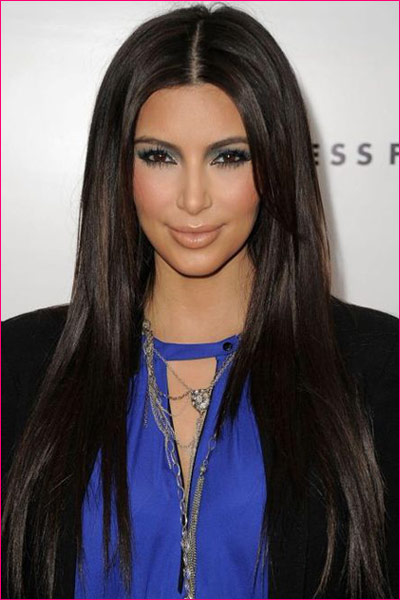 Kim Kardashian Zara Wig by Jon Renau Long hair middle part