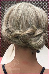 Gorgeous Wig Braided Updo Wedding Day Pictures