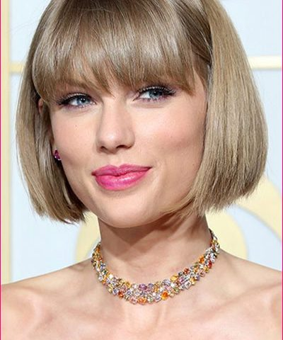 Taylor Swift Grammys 2016 Classic Bob Hairstyle