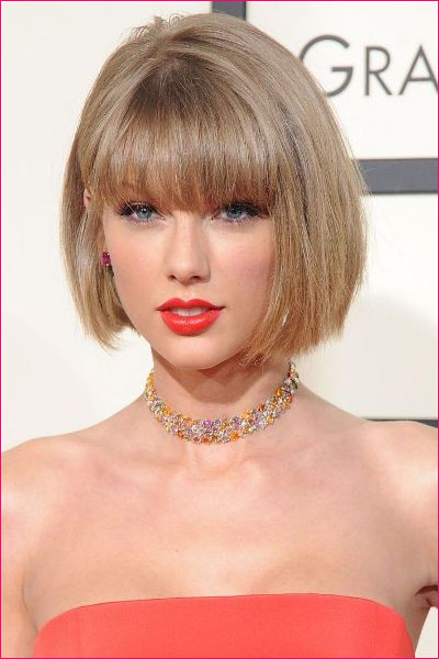 Taylor Swift Bobbed Hairstyle