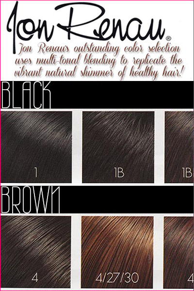 Guide to Jon Renau's Wig Colors